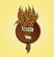 golden wheat logo for food business vector image