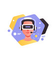 guy in virtual reality glasses vector image vector image