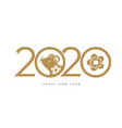happy new 2020 year celebration banner vector image vector image