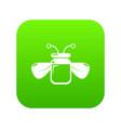 jar bee honey icon green