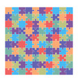 jigsaw puzzle set 100 colorful pieces vector image vector image