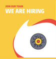 join our team busienss company eye ball we are vector image vector image