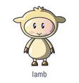 lamb icon cartoon style vector image