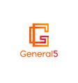 letter g logoabstract g logo design vector image