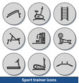 light sport trainer icons vector image vector image