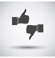Like and dislike icon vector image vector image