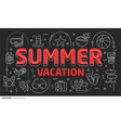 lines template summer vacation vector image vector image