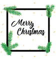 merry christmas greeting card in square frames and vector image vector image