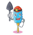 miner feather duster character cartoon vector image vector image