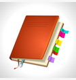 organizer day book icon for your design vector image vector image