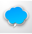 Paper blue cloud vector image