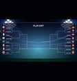 playoff tournament bracket vector image