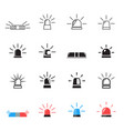 police ambulance car light flashing icons vector image