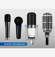 profesional microphones transparent set vector image vector image