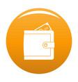 purse pay icon orange vector image vector image