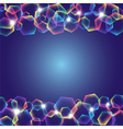 rainbow polygons with lights vector image vector image