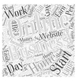 reasons for starting a profitable home business vector image vector image