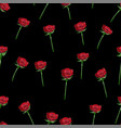 red rose wide buttons on stem seamless vector image