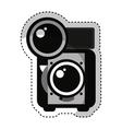 retro photographic camera icon vector image