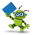 Robot with Envelope vector image vector image