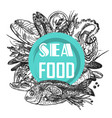 seafood sketch vector image vector image