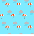 Seamless pattern rain cloud and umbrella vector image vector image