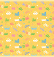 seamless pattern with cute batoys vector image vector image