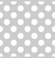seamless tile white polka dot pattern on grey vector image