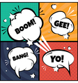 Set of comic bubbles and elements in pop artwith vector image vector image