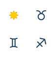 set of galaxy icons flat style symbols with gemini vector image vector image