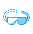 snorkel equipment icon vector image vector image