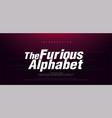 sport modern italic alphabet font typography fast vector image vector image