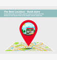 the best location book store vector image