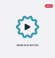 two color movie play button icon from user vector image vector image