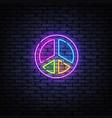 vintage icon with hippie neon esoteric vector image