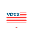 vote typographic about the importance of voting vector image vector image