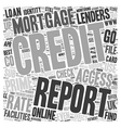 www TheCreditAgency co uk Online Credit Report vector image vector image