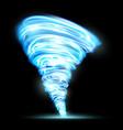 abstract glowing tornado rotating twister vector image
