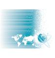 Global communication vector image