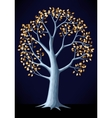 silver tree vector image