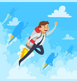 fast career design concept vector image