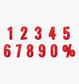 3d red metallic letter vector image vector image