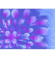 Abstract fractal resembling a flower with vector image