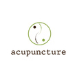 acupuncture design template vector image vector image
