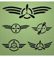 Airforce emblem set vector image vector image