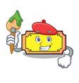 artist ticket character cartoon style vector image
