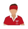 avatar man with sports clothes and cap vector image vector image
