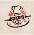 bakery stylized emblem or label in retro style vector image vector image