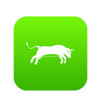 bull icon digital green vector image