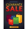 Clearance Sale Poster with percent discount vector image